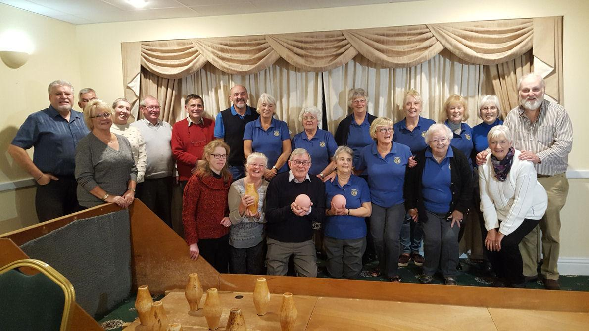 Shanklin Rotary Club Triumphant in Skittles Showdown - The Teams Celebrate