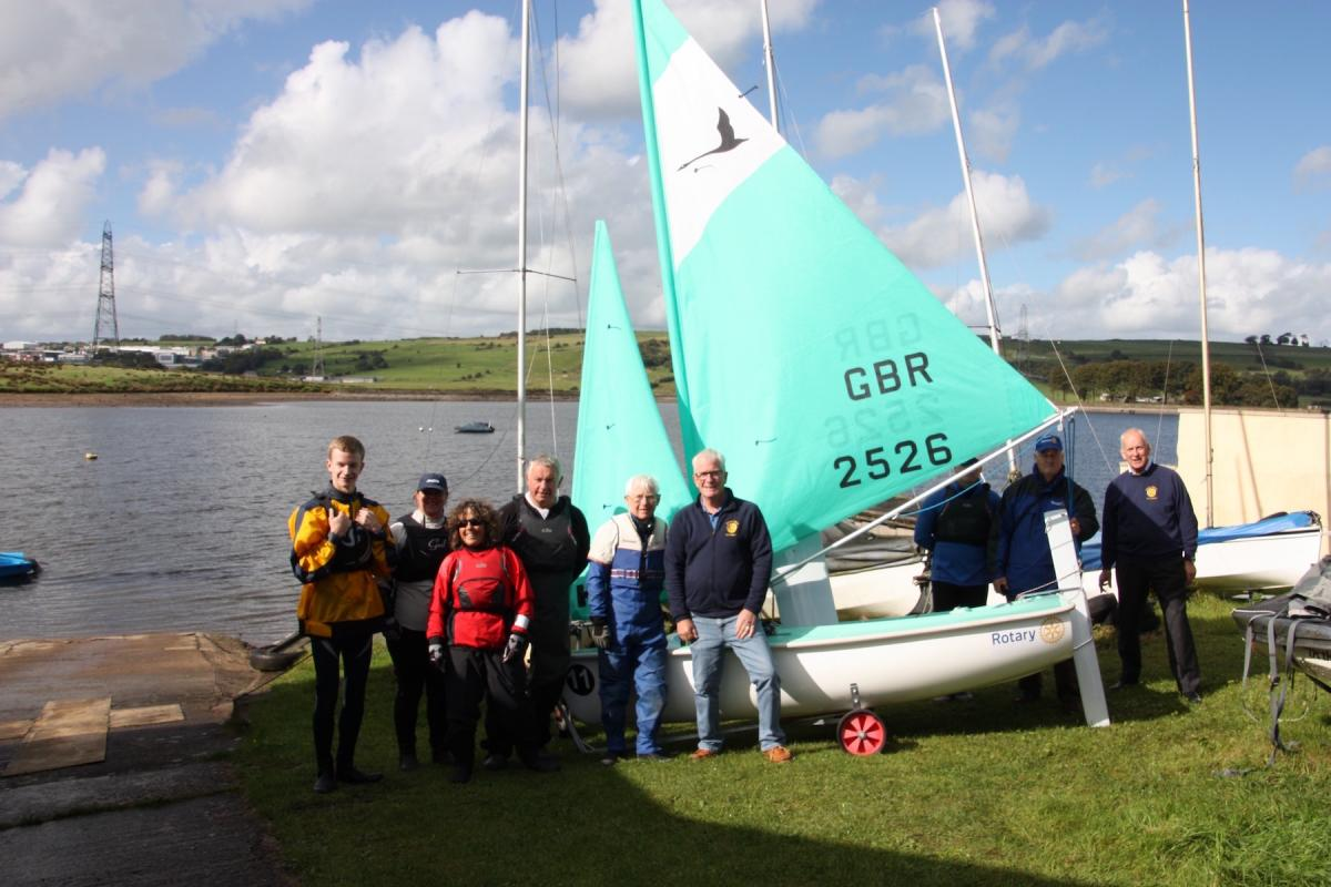 Members of Rotary International of Accrington, Rotary International of  Great Harwood and Rishton with members of East Lancs Sailing Club