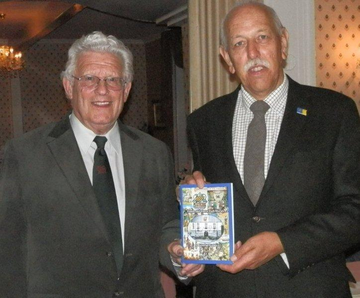 Mr George Lewis of Pembroke spoke to Tenby Rotary in September 2012, about the history of Pembroke and the magnificent murals that George and his wife Jeanne have created in Pembroke Town Hall