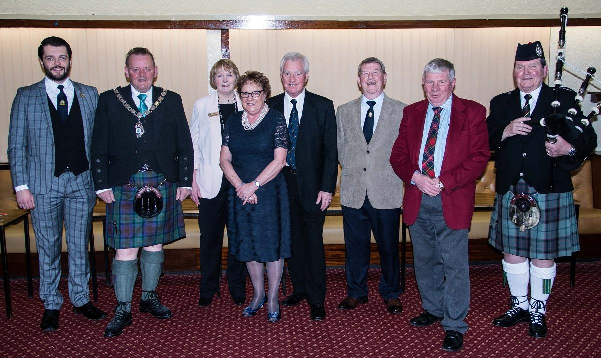 Rotarians and their guests at the start of the 2017 Burns Supper