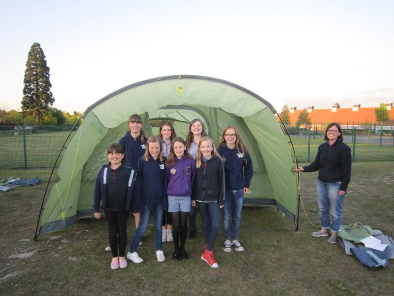Elvetham Heath Guides get new tents - www.fleetrtary.org.uk