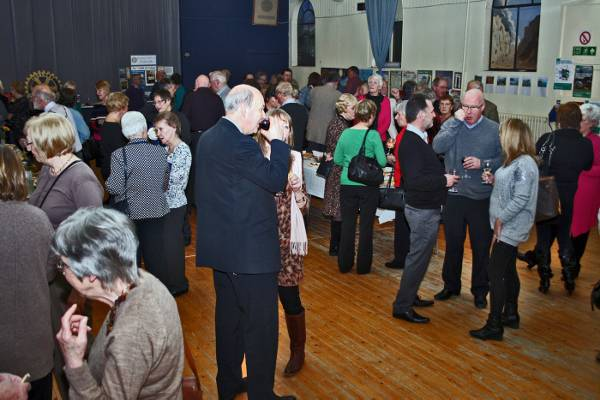 Wine and cheese evening - A part of the large crowd in the hall who helped to raise funds for our charitable work both at home and abroad.