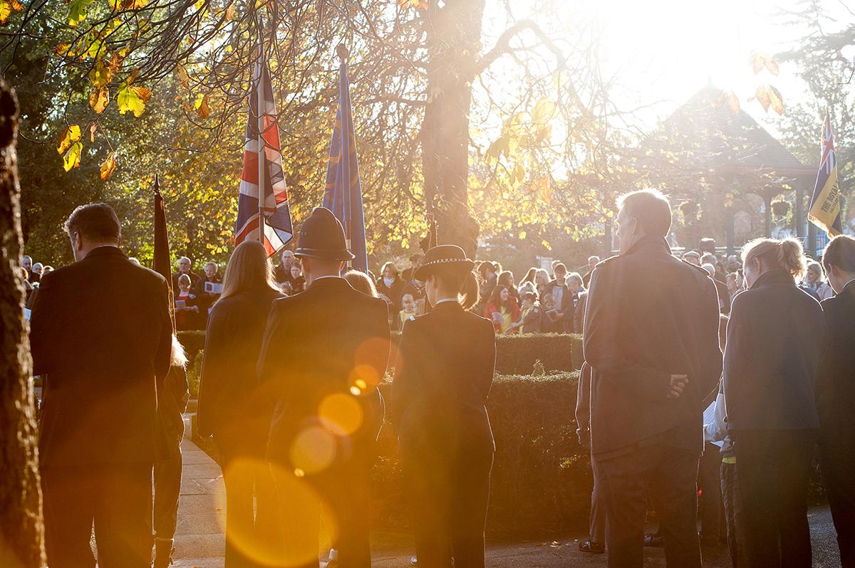 Members attend the annual remembrance service & parade