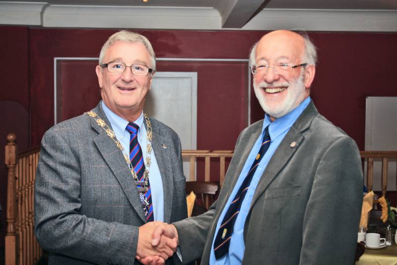 Hand over and some of the new Council members - Gordon Sanders hands over the Presidency to Bill Munro
