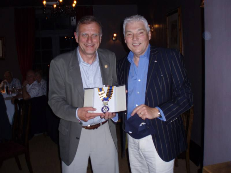 Handover to President Chris Flemming - Basingstoke Loddon Rotary, President Chris Flemming's Handover from Ian Rosewell for 2013/14