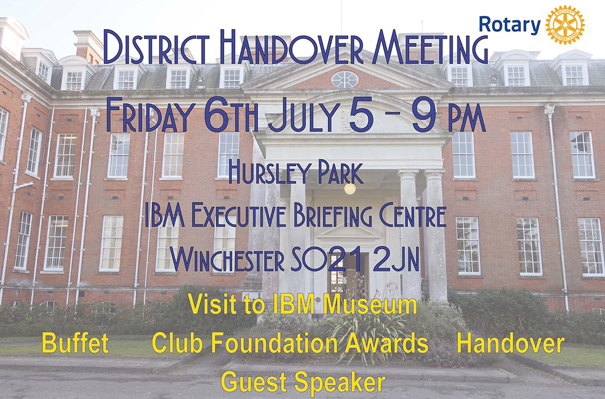 District Handover Meeting Flier