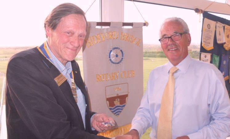 2015-16 Rotary Year - Trevor Stanbury, MBE handing over the Presidency to Jeremy Drakeford