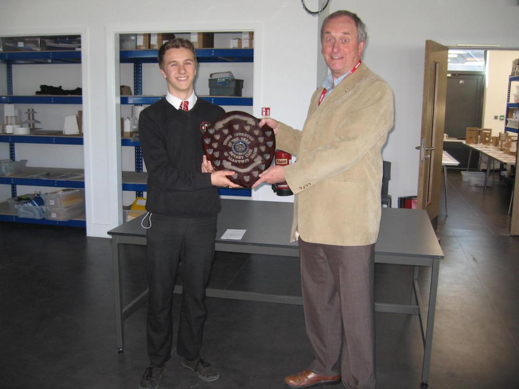 Young Inventor Competition - The winner Harry Bligh