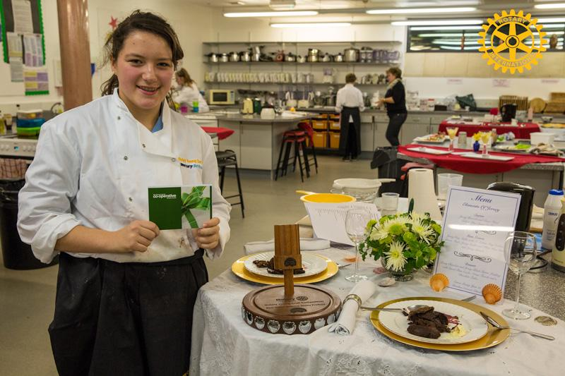 Rotary Young Chef 2014-15 - Jersey Final November 2014 - The winner Emma Preisig representing Beaulieu School.