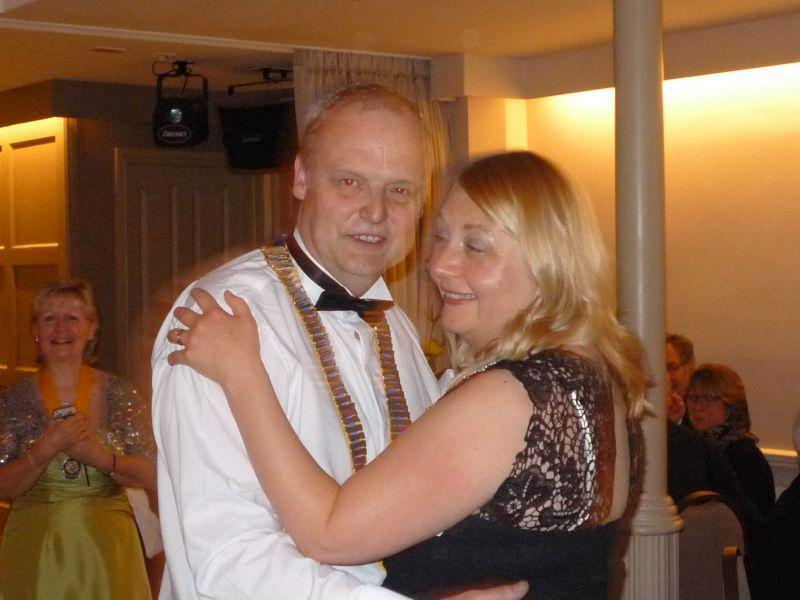 Presidents Night 2016 at Headlam Hall - President David with wife Debbie