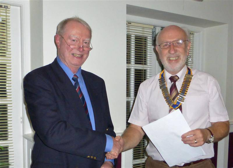 Second new member in a month! - Howard Binks with President John Morton