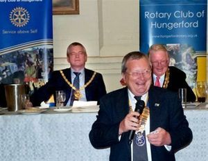 Hungerford Rotary Club President Graeme Sleeman