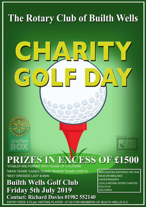 A ROTARY CHARITY GOLF DAY at BUILTH WELLS GOLF CLUB - Builth Wells Rotary Golf Day