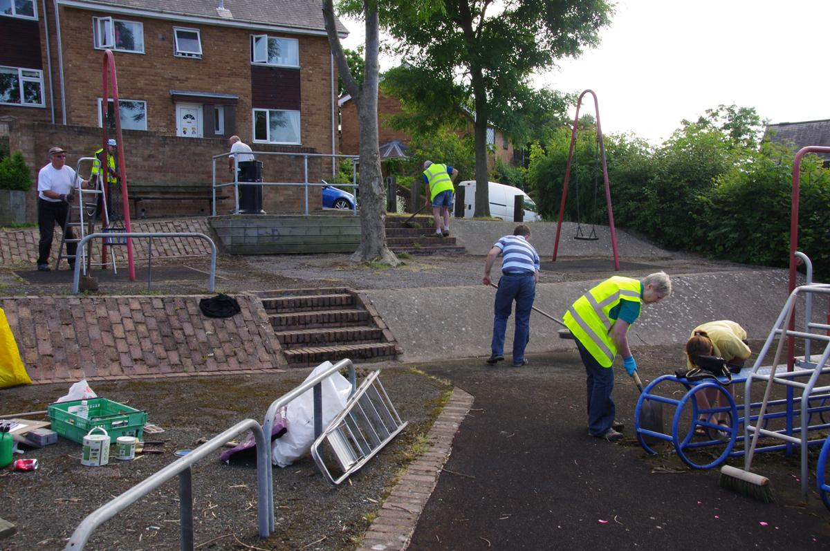 Community Services - Treowen playground clean-up
