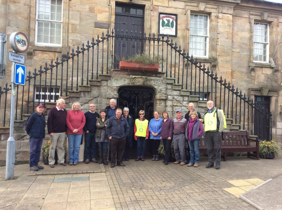 Rotarian Social Walk Sunday 9th October 2016 - Rotarians and partners meet in Sanquhar