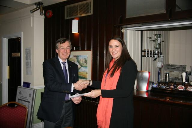 Thankyou Dinner January 2016 - Presentation to Daisy from St Michaels Hospice