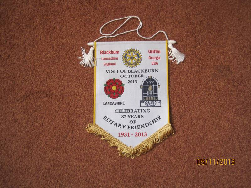 Banner from Rotary Club of Griffin Visit