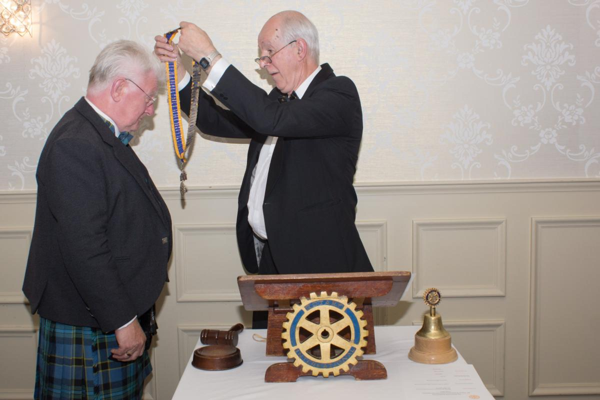 Our new President is duly installed.
