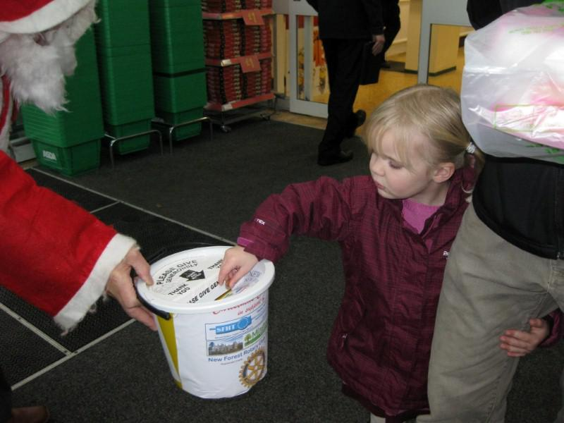 Asda And Morrisons Christmas Collections And Carols At Asda Rotary Club Of New Forest