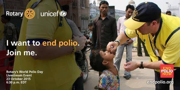 Steve Immunises street children against Polio in the northern city of Lucknow