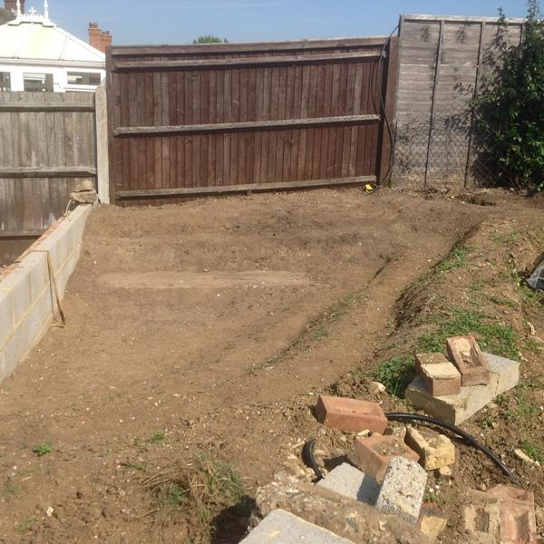 11th Sept 2015 - today is pond day ! - the pond area we have created at Cam's garden