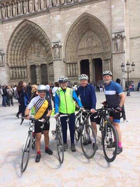 Cycling the Avenue Verte - Members of the RCPR cycle group bike from London to Paris May 2017