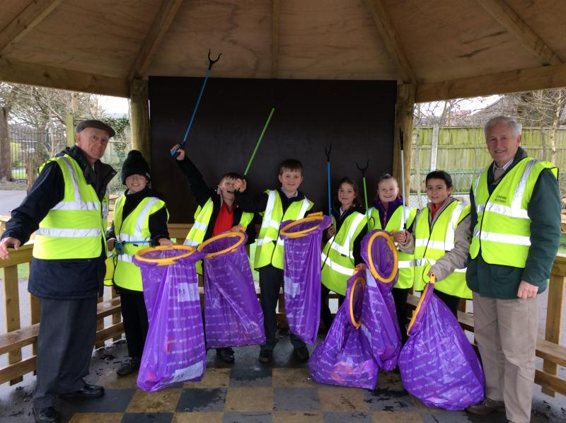 Pebble Brook youngsters clean up