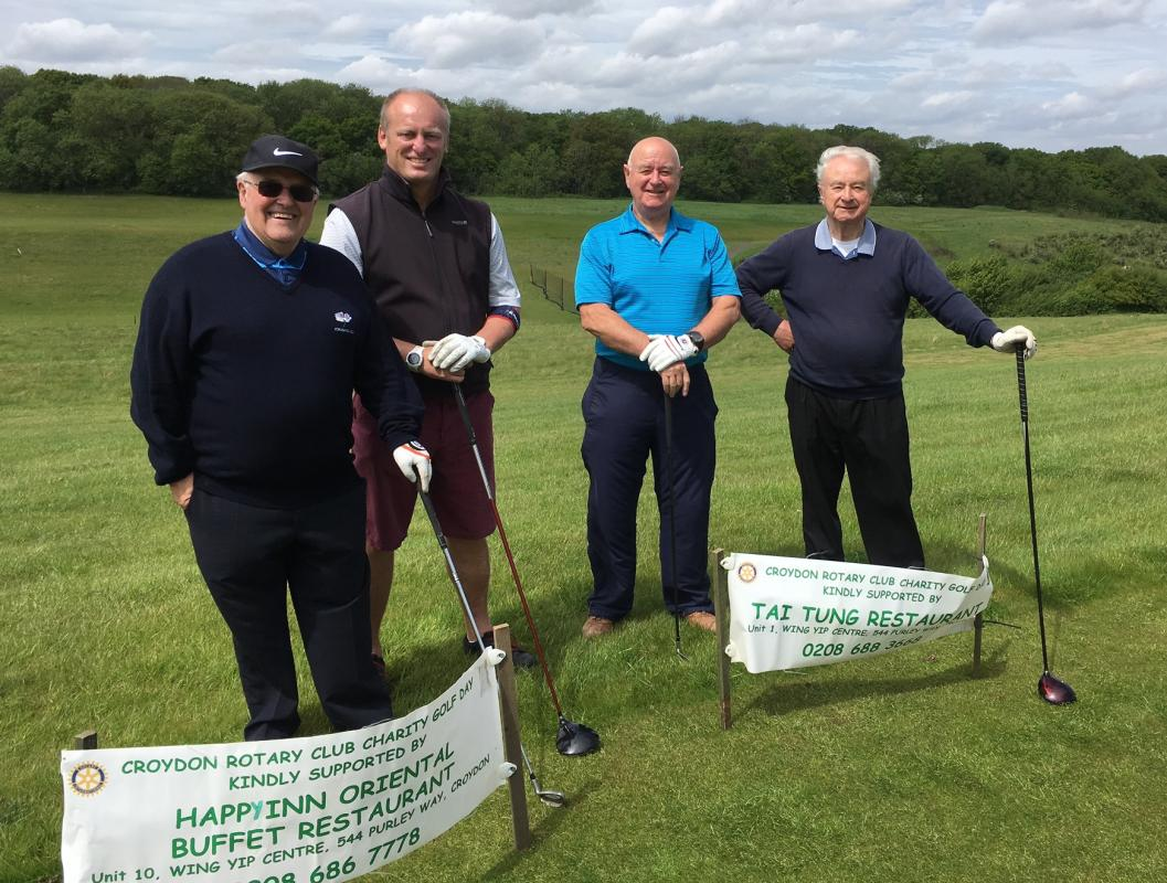Charity Golf Day May 2017 raises over £1600 - Team 1 at the First Tee