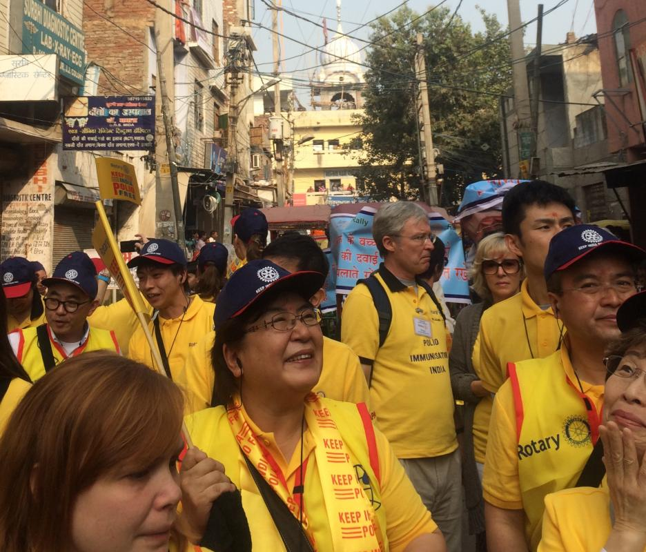 We travelled with 45 UK Rotarians to work with members of the Rotary family from around the world.