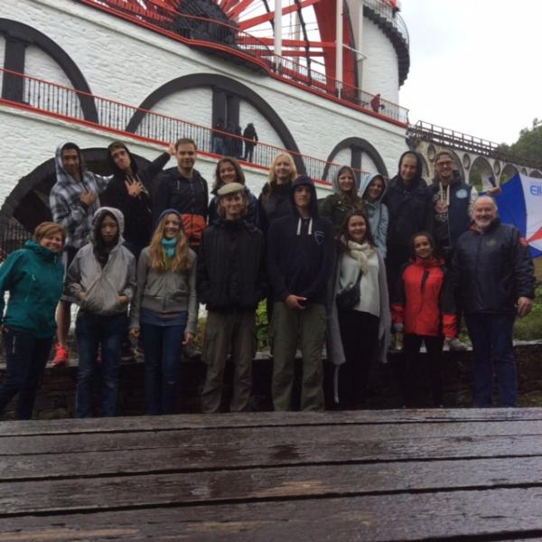 District Summer Camp 2015 - Summer Camp group at the Laxey Wheel