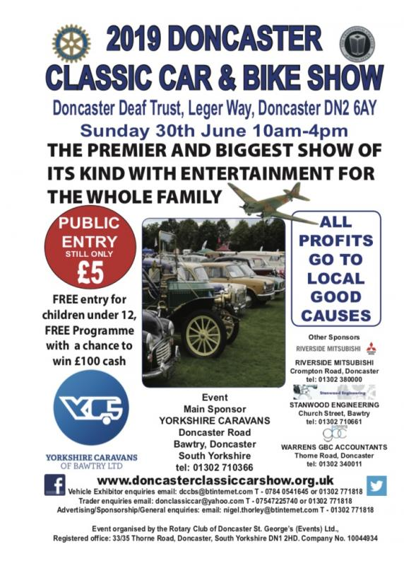 Doncaster Classic Car & Bike Show 2019 -