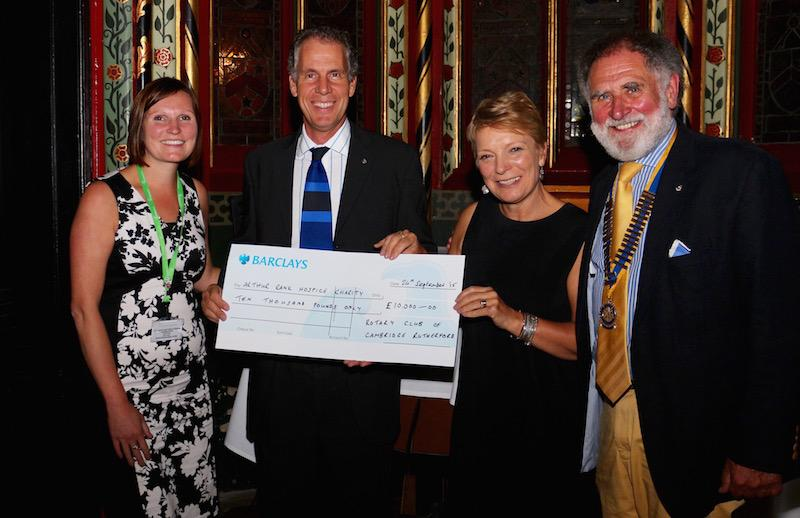 Cheque presentation at Queens' College