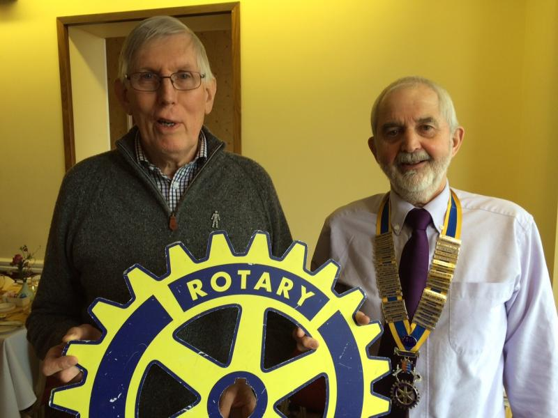 Rtn. President Martin Keable with Rtn. Ron Stokes