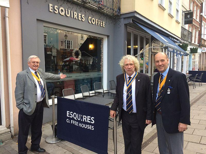 Paul, Richard, and Bernard outside Esquires looking forward to welcoming you on 6th December.