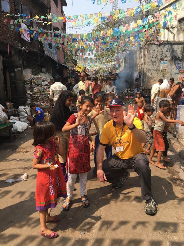 Our club member Clive Bath on a recent immunisation programme in Mumbai