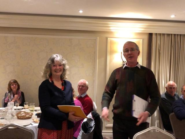 Wendy Ray is welcomed to Wells Rotary