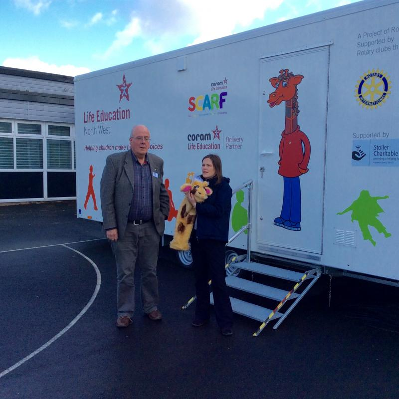 Life Education Trailer at Corrie Primary School