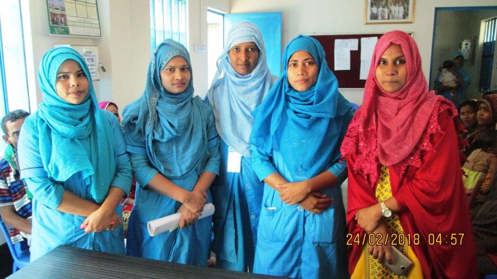 Bangladesh Visit Early 2018 - Nurses of a 12 nurse team providing care to a slum of 350,000people