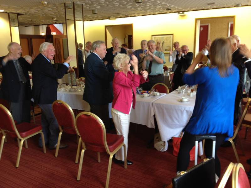 Great Yarmouth Rotary Club goes through a fitness routine