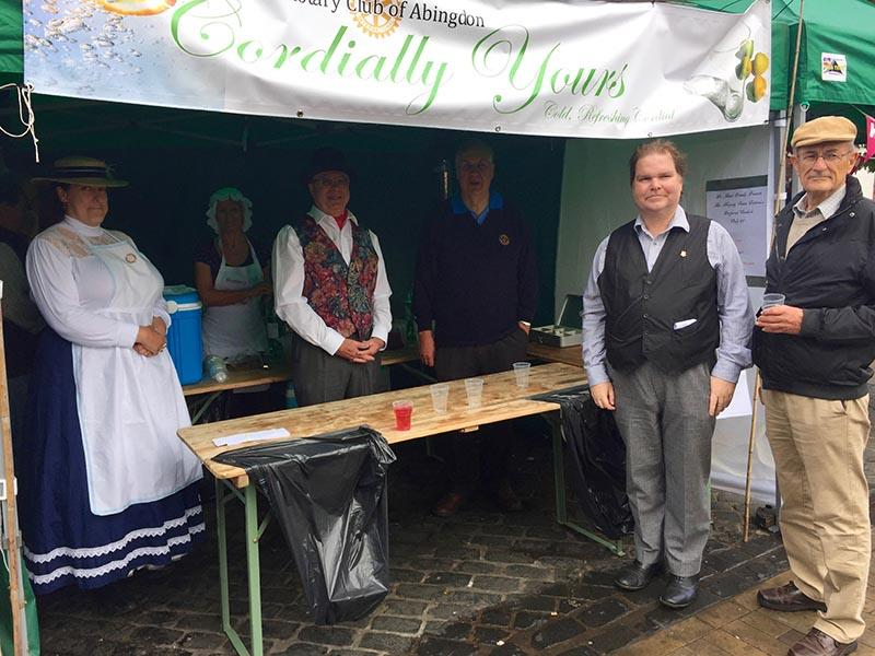 Abingdon Rotarians nourishing the local community - in historical dress!
