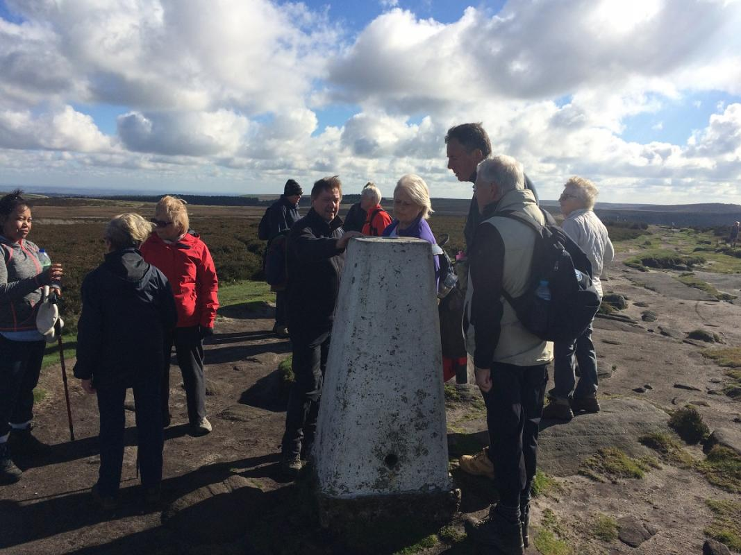 Derbyshire 2016 - The highest point on the trip - the trig point on Stanedge Edge
