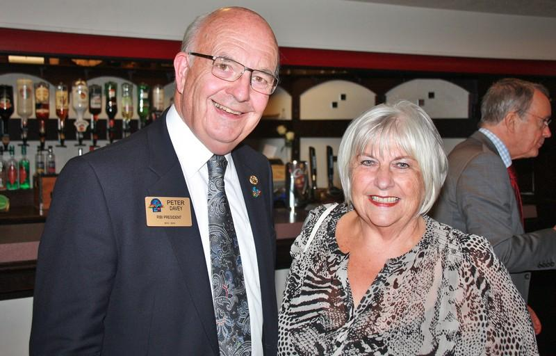 Rotary GBI President 2015-16 Peter Davey with Club President 2015-16 Christine Moorhouse at the launch of the new District 1285