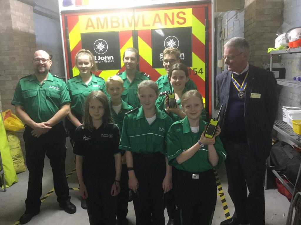Rotary Monmouth meets cadets and see how St John's Ambulance will use their new radios