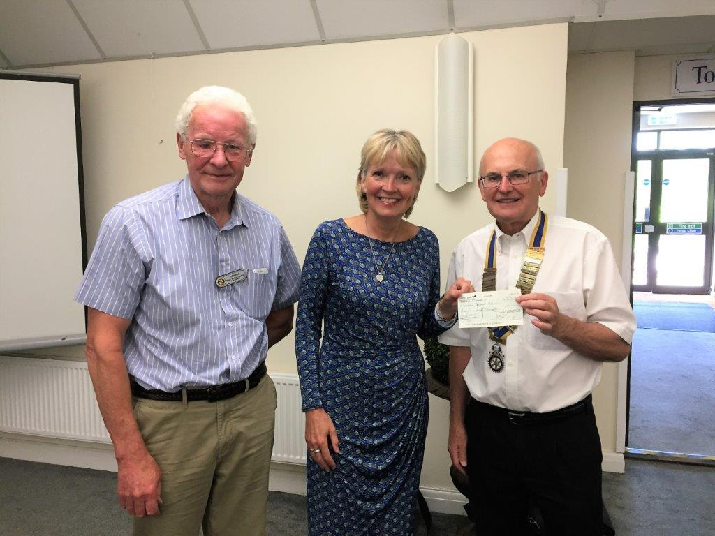 Nicky with President John and fellow Rotarian Robin