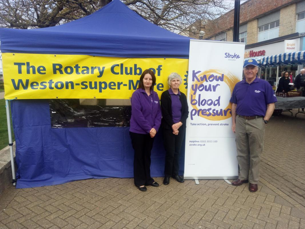 Annual 'Know your Blood Pressure Day' - Our annual public Blood Pressure Day keeps us busy in Weston High Street