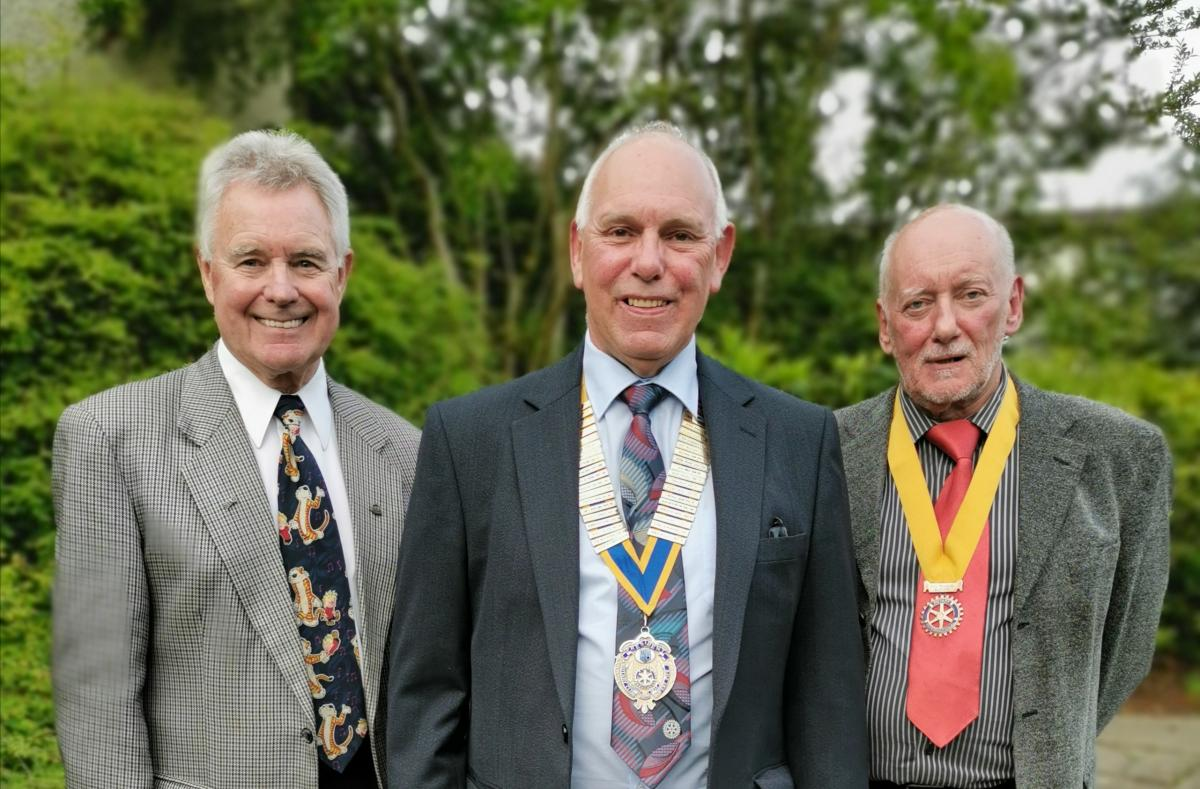 Past President John hands over the reins to President Brian and Vice President Roger.