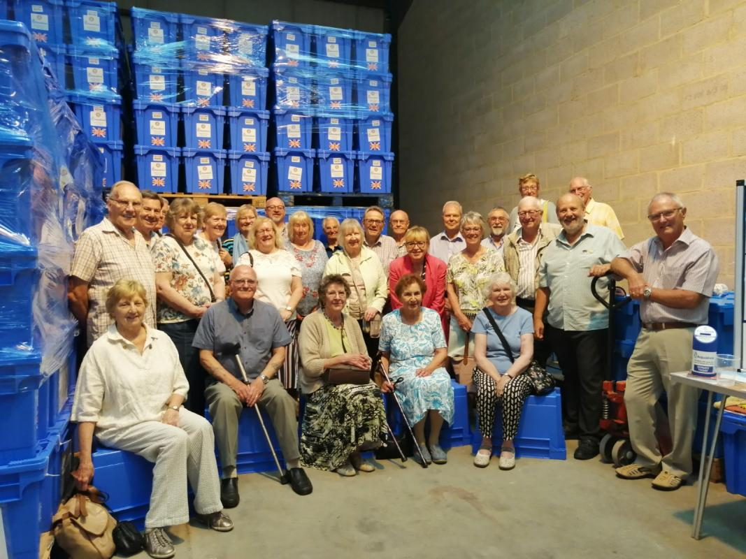 Club members and friends at the The Aquabox Warehouse in Wirksworth Derbyshire
