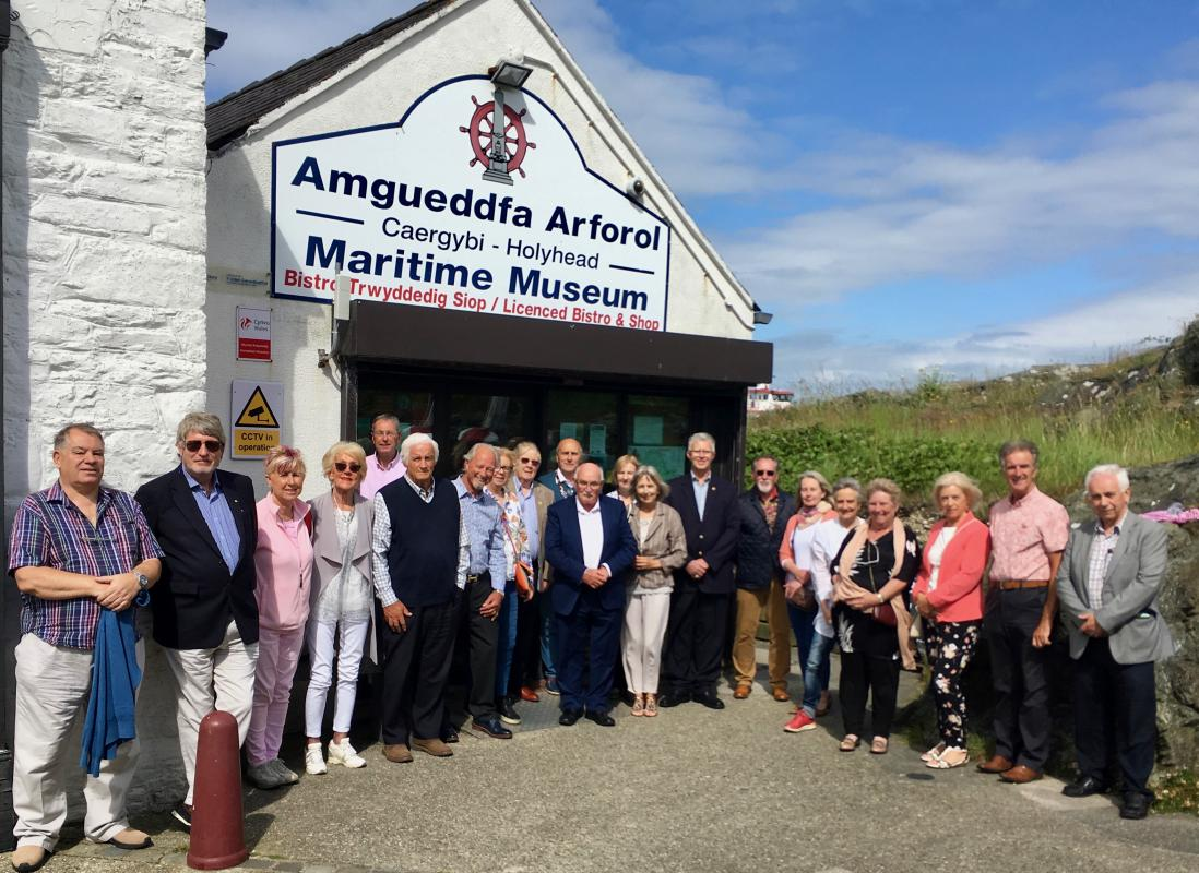 Visit from the Dun Laoghaire Rotary Club - Rotarians from Dun Laoghaire and Holyhead visit the Holyhead Maritime Museum.