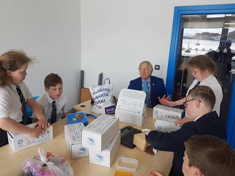 Interact Club - Ilfracombe Interact Club organised 25 boxes for the Rotary Shoebox Appeal