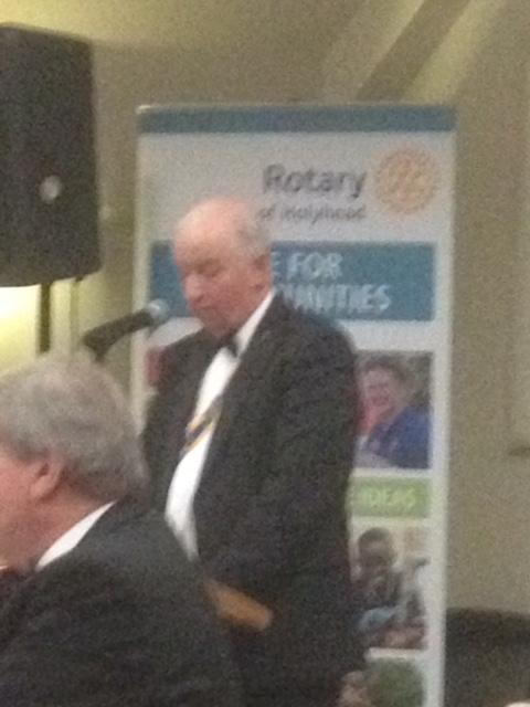 Holyhead Rotary Club 70th Charter Dinner - Club President Robyn Williams during his address to members and guests